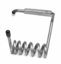 Kawasaki 300 440 550 550SX Handle Pole Spring Black